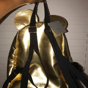 Gold Minnie Mouse bag
